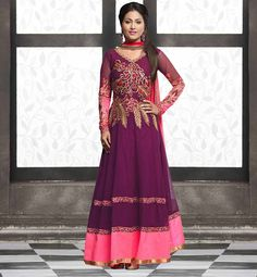AKSHARA HINA KHAN BOLLYWOOD STYLE PARTY WEAR ANARKALI SALWAR KAMEEZ