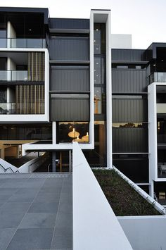 The Village @ Coorparoo, Brisbane - Retirement Village by S3 Architects    Building 1 - Internal Elevation + Main Entry