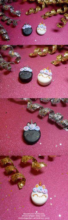 Polymer Clay Unicorn Cakes kawaii miniature food, food jewelry, sculpey, fimo, mini cakes, pastel goth, kawaii cakes, polymer clay jewelry Unicorn Cakes, Mini Things, Cute Toys, Cute Cakes, Miniature Food, Mini Cakes, Pastel Goth, Polymer Clay Jewelry, Art Lessons