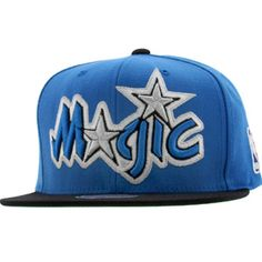 buy online a634a c2695 Mitchell And Ness Orlando Magic STA3 Wool Snapback Cap (blue   black) Caps  Orlando
