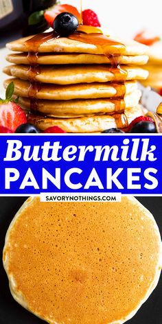 Quick Meals For Kids, Easy Family Meals, Quick Easy Meals, Family Recipes, Buttermilk Pancakes, Breakfast Pancakes, Pancakes And Waffles, Best Breakfast Recipes, Brunch Recipes
