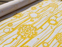 Papercut Blooms Yellow by AuntyCookie on Etsy, $20.00