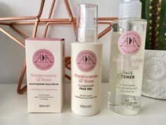 Mothers Day Gift Ideas 2017 Natural Hydrating and Toning Face Kit by AA Skincare.  Lylia Rose UK Lifestyle and Beauty Blog.  Frankincense and Rose essential oils.  Anti aging and revitalizing.