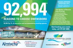 Owensboro Convention Center print ad for Convention South Magazine.
