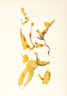 Male Nude: Watercolor .. only painting mid-tones and sharp edges,  try with other efforts