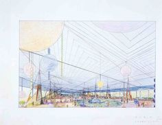 frank lloyd wright drawings | Frank Lloyd Wright's original plans for the Marin County Civic Center ...