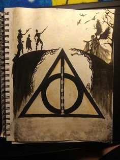 I did this for my son. He and I love Harry Potter because it was our thing together to do. All watercolor. Not for sell. Harry Potter Painting, Harry Potter Artwork, Harry Potter Tattoos, Harry Potter Drawings, Harry Potter Pictures, Harry Potter Wallpaper, Harry Potter World, Harry Potter Sketch, Harry Potter Deathly Hallows