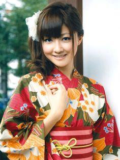Yurina Kumai wearing kimono.  Japan