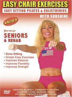 Seniors Exercise DVD: Senior / Elderly Sitting Exercises DVD, Easy Sitting PILATES Strength, Rehab  Physical Therapy. Seniors Elderly Exercises DVD. This Sitting Seniors Fitness DVD is Good also for Easy Osteoporosis Exercises, Diabetes Exercises, Arthritis Exercises, Alzheimer's Exercises DVD.