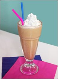 caramel apple milkshake  - I LOVE Steak n Shakes Caramel apple milkshakes at Halloween but could NOT believe the calories and fat.  Lower cal and fat version