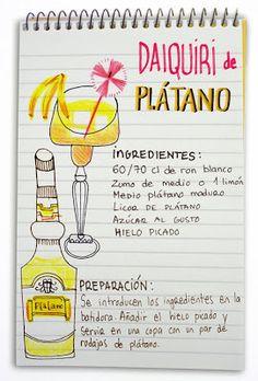 Daiquiri de platano: ron y plátano #bananas