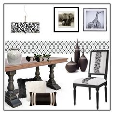 """""""LIVING IN BLACK & WHITE!!!"""" by kskafida ❤ liked on Polyvore featuring interior, interiors, interior design, home, home decor, interior decorating, Giclee Glow, Wendover Art Group, Pottery Barn and V Rugs & Home"""