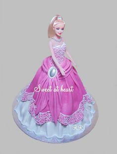 Barbie cake - like the lace look