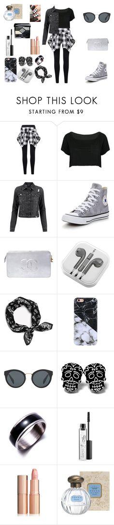 """Başlıksız #20"" by morturtle on Polyvore featuring moda, WithChic, Converse, Chanel, PhunkeeTree, rag & bone, Prada, MAC Cosmetics, Christian Dior ve Elegant"