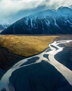 Tasman River, New Zealand by @brentpurcell.nz •