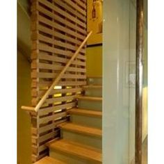 For my current house...into basement Horizontal Wood Slat Screen