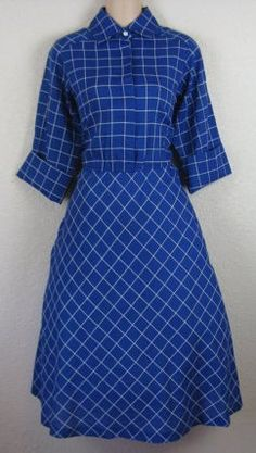 Stunning and Flattering MultiPattern Royal Blue by WilyVintage, $25.00