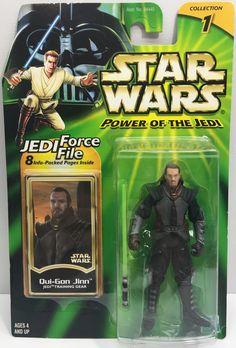 (TAS033201) - 2000 Hasbro Star Wars Power Of The Jedi Qui-Gon Jinn Action Figure