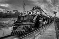 """4-8-8-4  #4023 - Union Pacific Railroad """"Big Boy"""" outside of Omaha, NE"""