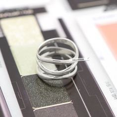 Multi Lines 925 sterling silver Ring Basic Women by CallVogue, $37.99