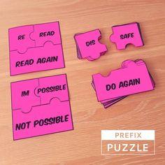 Prefix Mini Puzzles  #spelling #prefixes #literacy