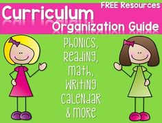 Free Curriculum Organization Guide and FREE sample