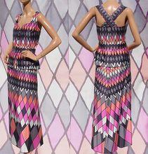 Vintage 1970s Top & Skirt 2 Piece Outfit Harlequin Pattern Cotton Ladies Size Medium