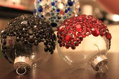 Bedazzled Christmas Ornaments