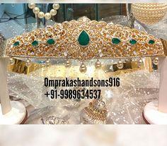 Mughal Jewelry, Indian Jewelry, Bridal Jewellery, Diamond Jewellery, Jewellery Designs, Jewelry Patterns, Vaddanam Designs, Waist Belts, Gold Ornaments