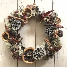 Dried Natural Christmas Wreath
