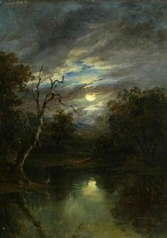 "John Moore of Ipswich, ""Moonlight landscape"""