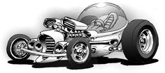 Rat Rod Coloring Pages - - Image Search Results Cars Coloring Pages, Coloring Book, Cool Car Drawings, Classic Hot Rod, Weird Cars, Black White Art, Motorcycle Art, Cycling Art, Automotive Art