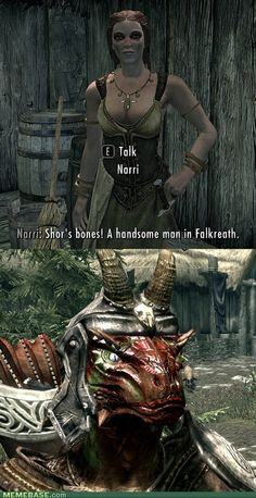 Skyrim humor. Definitely lol'd big time.