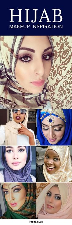 Glowing skin, neutral eyes, and bold brows are a go-to for these hijabi makeup lovers. Check out some of our favorite looks! http://www.popsugar.com/beauty/Hijab-Makeup-36784837?crlt.pid=camp.f9rdmbCHIuct