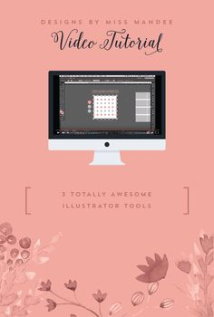 Three Totally Awesome Illustrator Tools - Designs By Miss Mandee Video Tutorial. Learn how to use the Split Into Grid, Transform Again, and Blend tools to space objects in a cinch! These three Adobe Illustrator tools are a must-know for beginner designers and pros alike.
