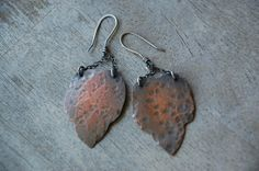Rustic Copper Dangle Earrings by LindseyBGriffith on Etsy, $32.00
