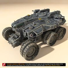 scifi heavy vehicle 3d model
