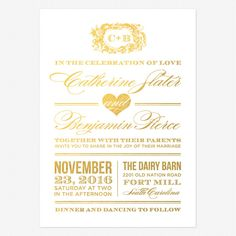 Style and Grace Foil Stamped Wedding Invitations | Love vs Design