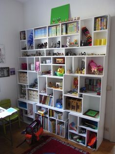 Cubit shelving system comes in different sizes and depths. Make it a whole wall though