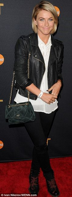 Julianne Hough arrived at Justin Timberlake concert in NYC