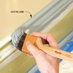 How to paint trim like a pro - from this post make sure to read the lay on lay off tip. I also caulked the cracks but that was it.