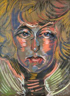 Stanisław Ignacy Witkiewicz (Witkacy) Edvard Munch, Wassily Kandinsky, Karl Schmidt Rottluff, George Grosz, Character Design Inspiration, Figurative Art, Portraits, Psychedelic, Surrealism