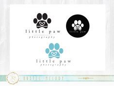 Mini Branding Package Paws Logo Design, Dog Logo, Paw Logo, Boutique Logo, Photography Logo, Custom Logo, Premade Logo, Stamp Logo