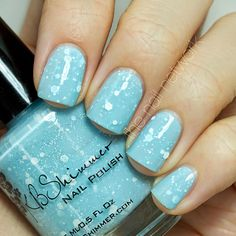 icy blue holiday nails!  ~ we ❤ this! moncheriprom.com