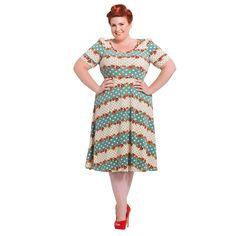 Voodoo Vixen Faith Plus Size Dress (Multi Coloured)