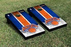 Northwood Timberwolves Vintage Stripe Cornhole Tailgating Game from Team Sports. Click now to shop NCAA Tailgate & Backyard Games. Nba New York, New York Knicks, Tailgate Games, Tailgating Gear, Cornhole Game Sets, Backyard Games, Fan Gear, Vintage, Car Accessories