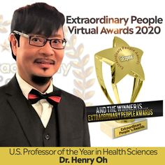 We are celebrating US Professor of the Year in Health Science Dr. Henry Oh. May he continue to touch the lives of others with a life of purpose! www.ExtraPeopleAwards.com Extraordinary People, The Lives Of Others, People Around The World, Professor, Purpose, Awards, Science, Touch, Celebrities