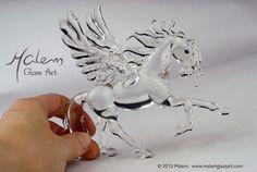 Pegasus Unique flameworked glass horse - work in progress Equine Art, Pegasus, Glass Jewelry, Glass Art, Sculptures, Creatures, Floor, Horses, Artist
