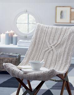 diy tricot fauteuil déco - Marie Claire Idées