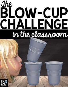 Learn how to integrate the Blow Cup Challenge in the classroom with this engaging STEM project and lesson plan that incorporates math and science standards. STEM Challenge, STEM lessons for elementary, STEM lessons for middle school, scientific method, graphing, data collection, science vocabulary, STEM activities in the classroom. via @erintegration